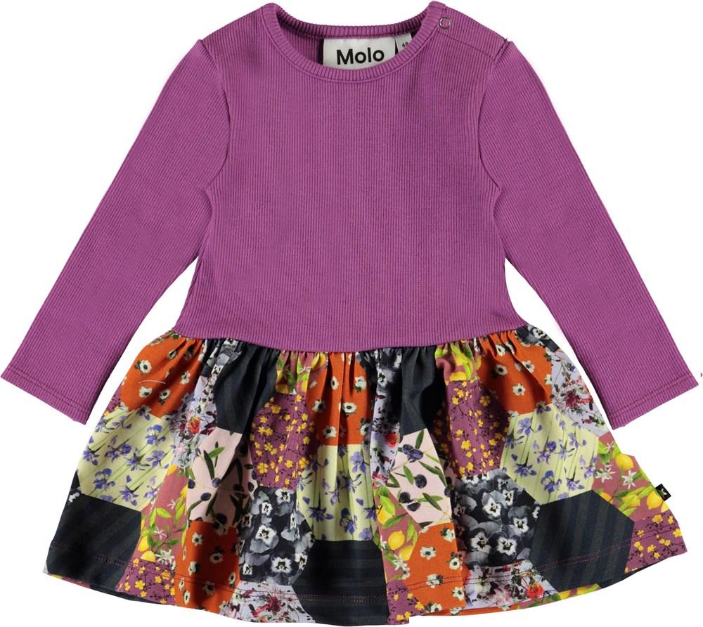 Carel - Patchwork - Økologisk baby kjole med patchwork
