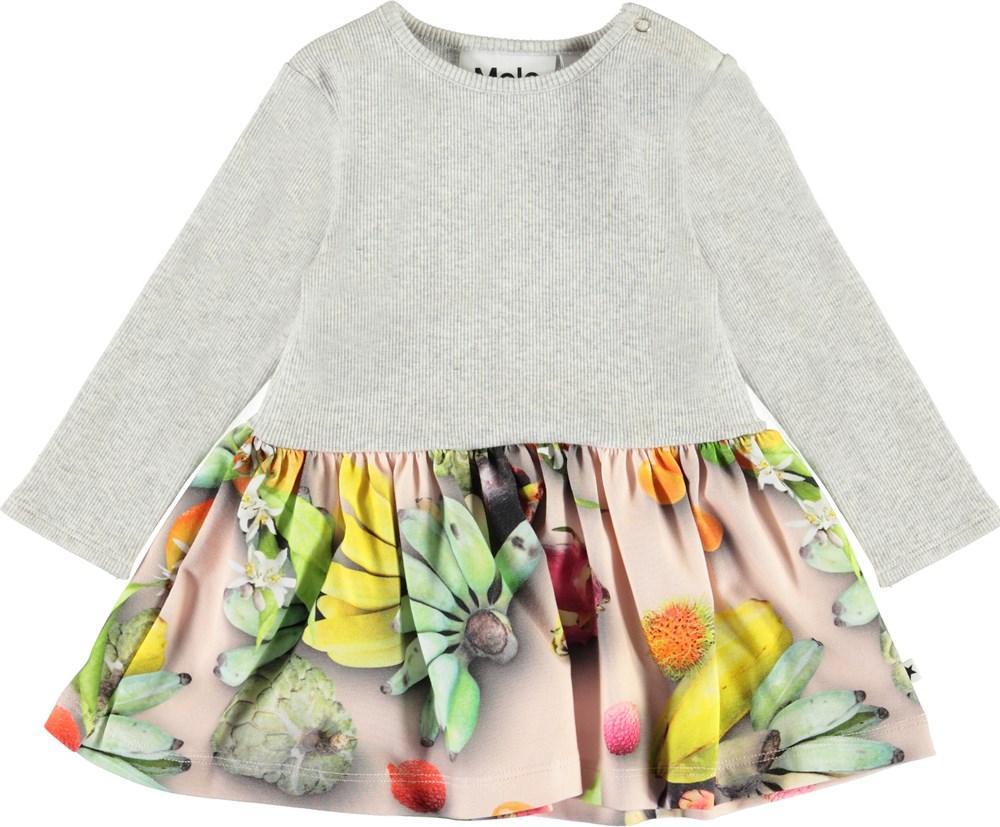Carel - Tutti Frutti - Økologisk baby kjole med frugter