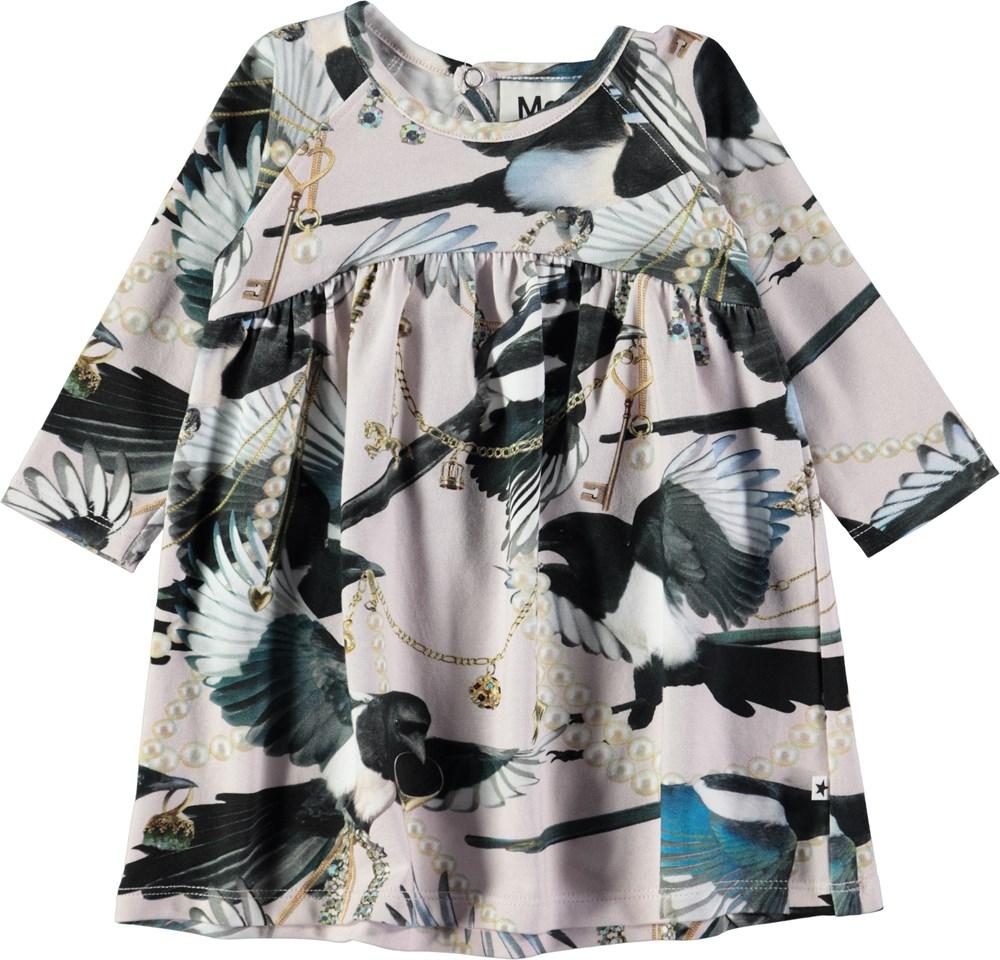 Carlys - Treasure Hunters - Rummelig, lyserød baby kjole med digitalprintede skader