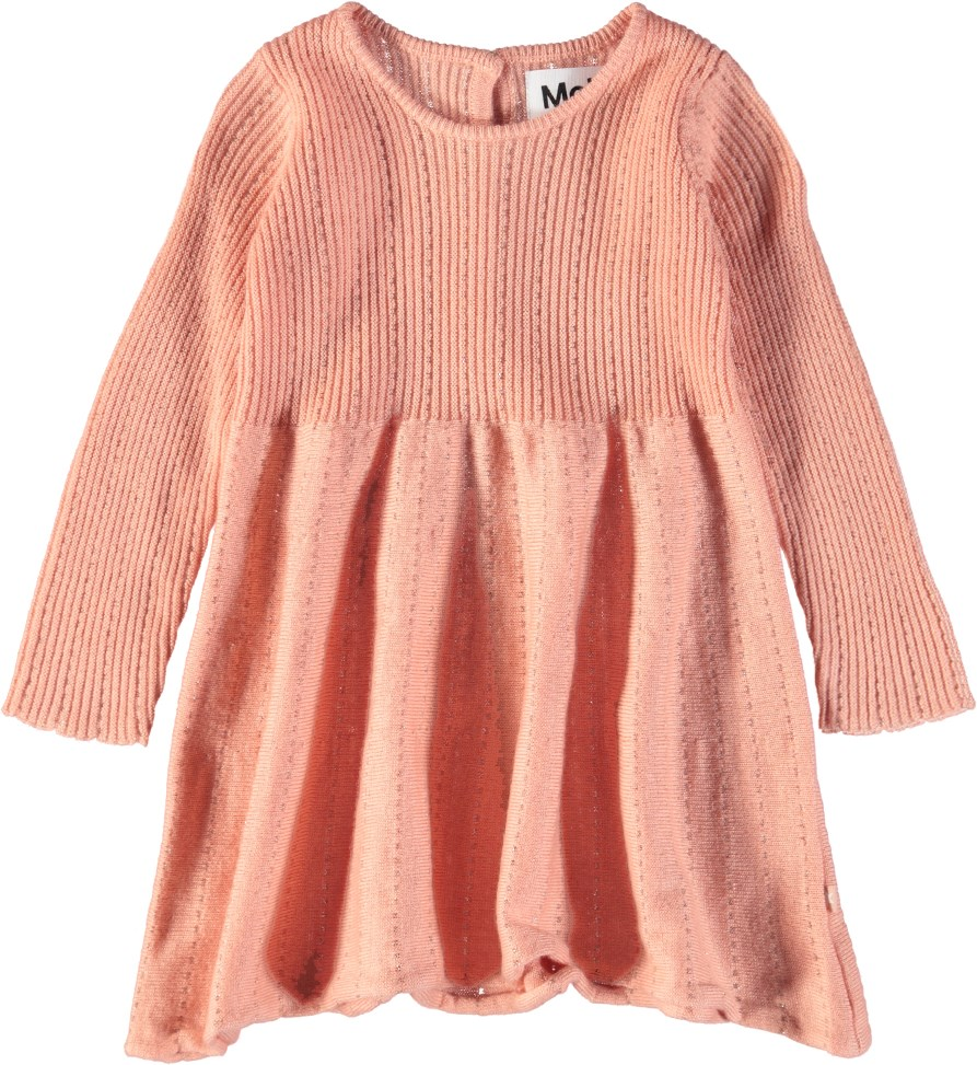 Cass - Dawn - Langærmet, strikket baby kjole i uld