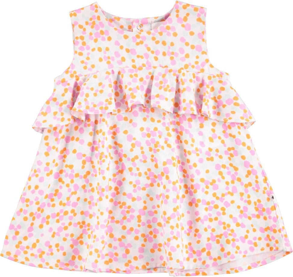 Catja - Random Dots - Yndig prikket baby kjole med flæsekant