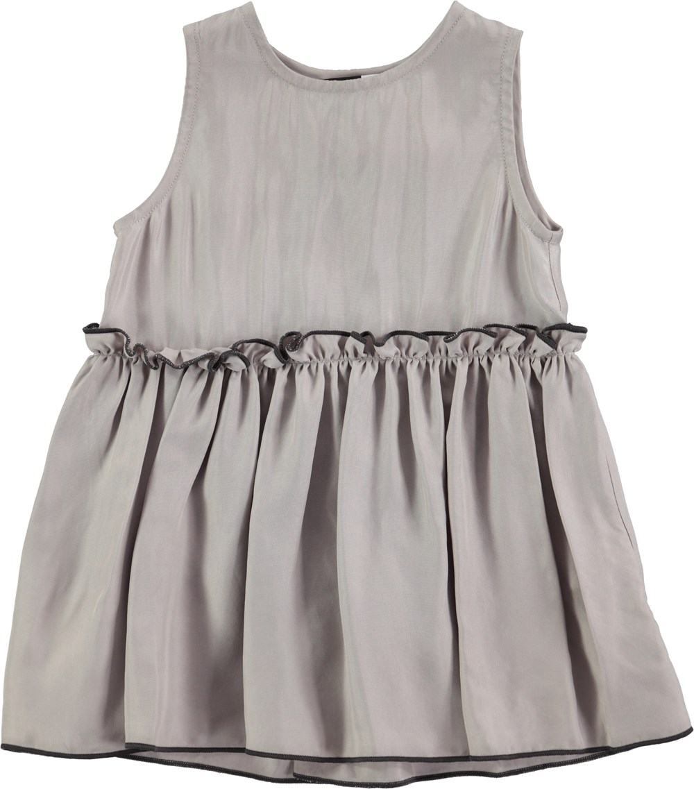 Cerys - Opal Grey - grå baby kjole i cupro