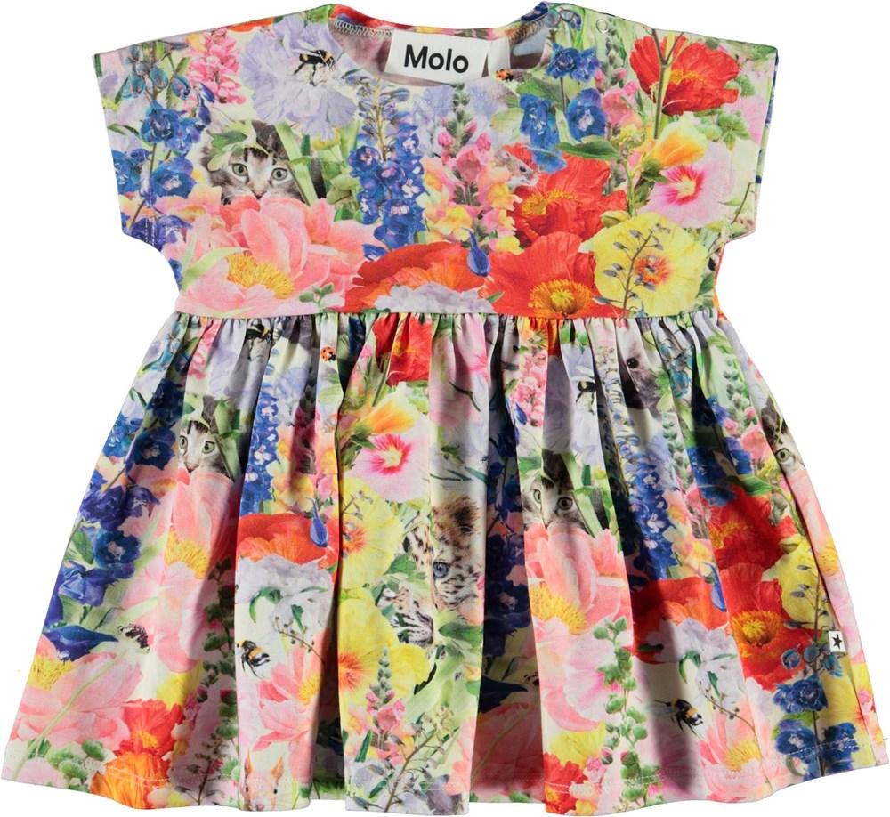 Channi - Hide And Seek - Økologisk baby kjole med blomster