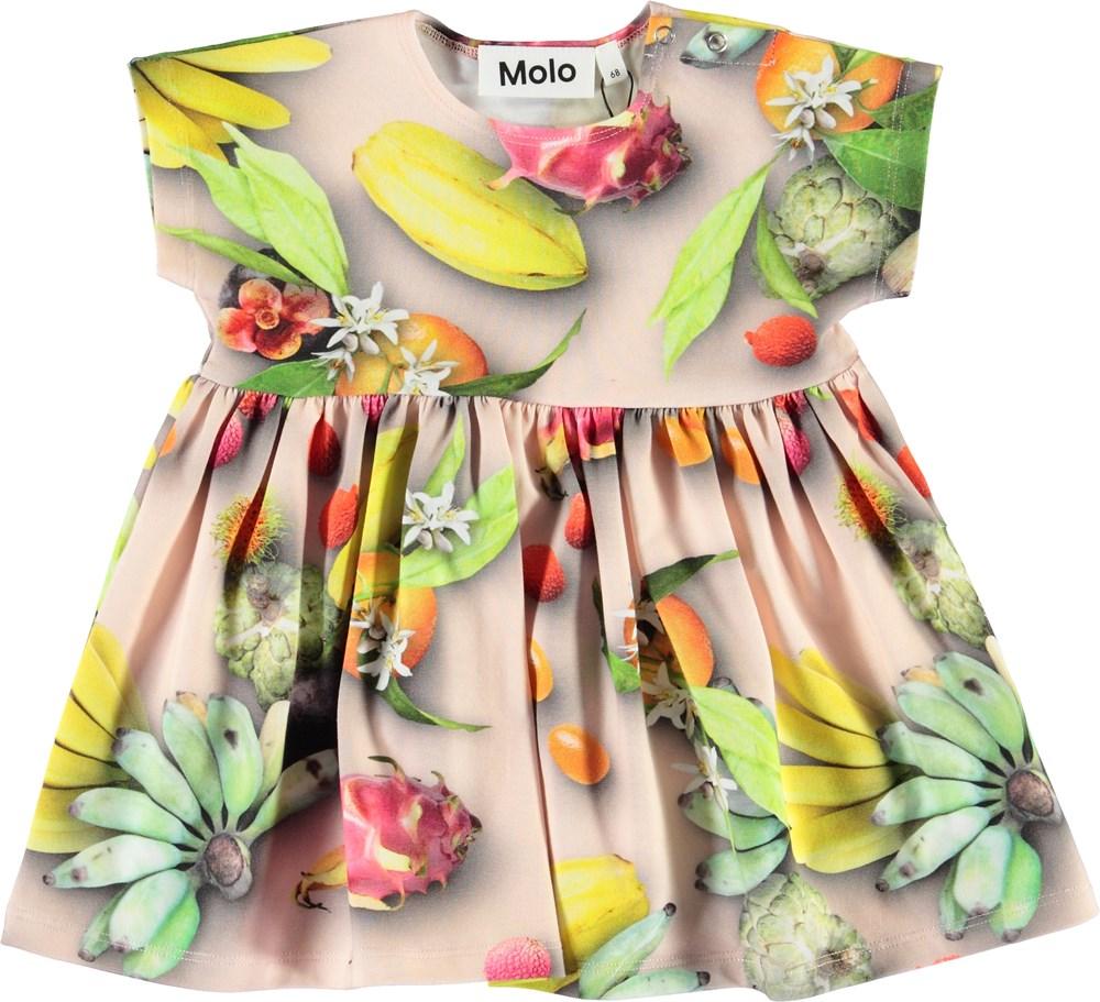 Channi - Tutti Frutti - Økologisk baby kjole med frugter