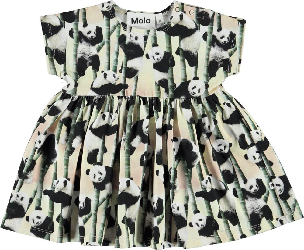 Channi - Yin Yang - Økologisk baby kjole med pandaer