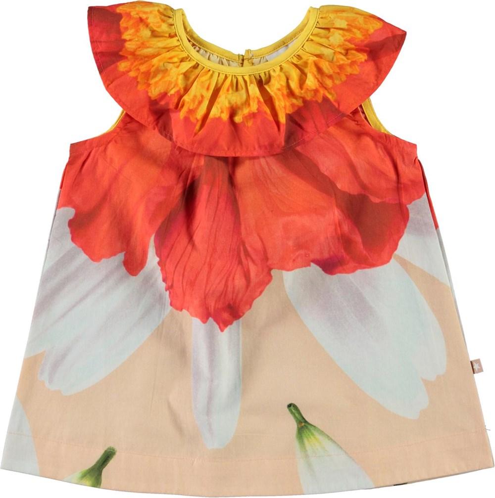 Ciera - Petals - Økologisk baby kjole med blomster print