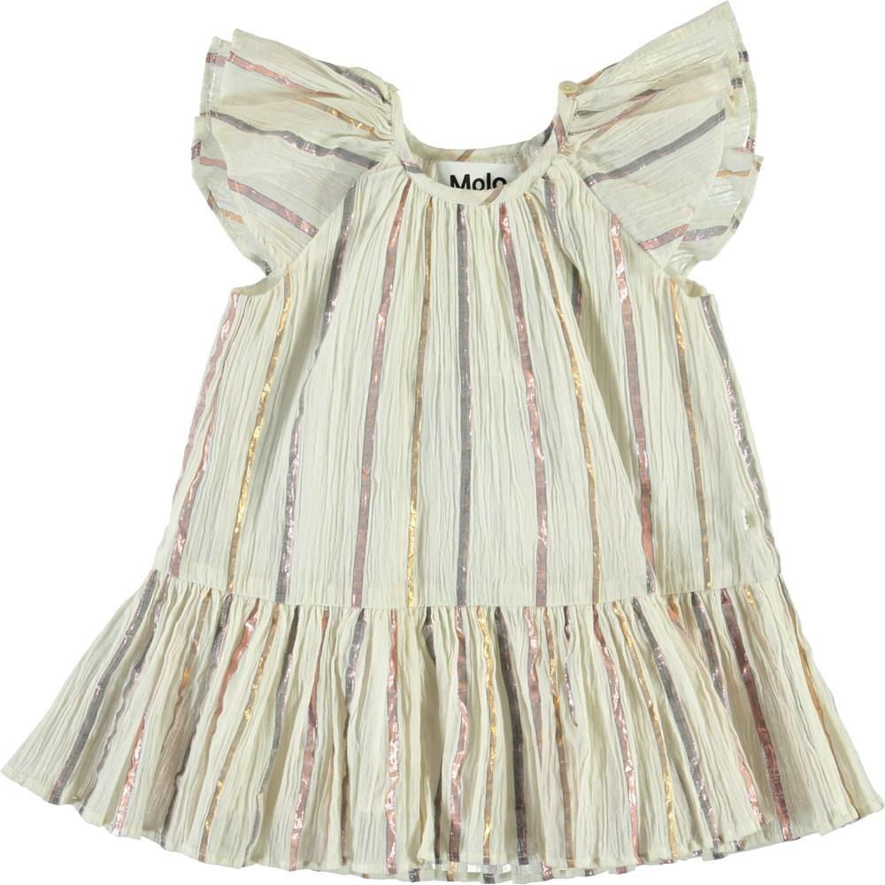 Cindie - Metalic Stripe - Baby kjole med metalic striber
