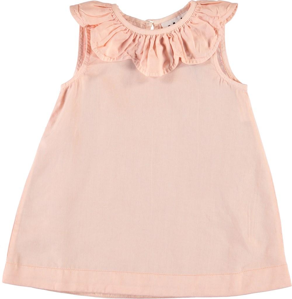 Clarella - Powder - Rosa baby kjole med krave