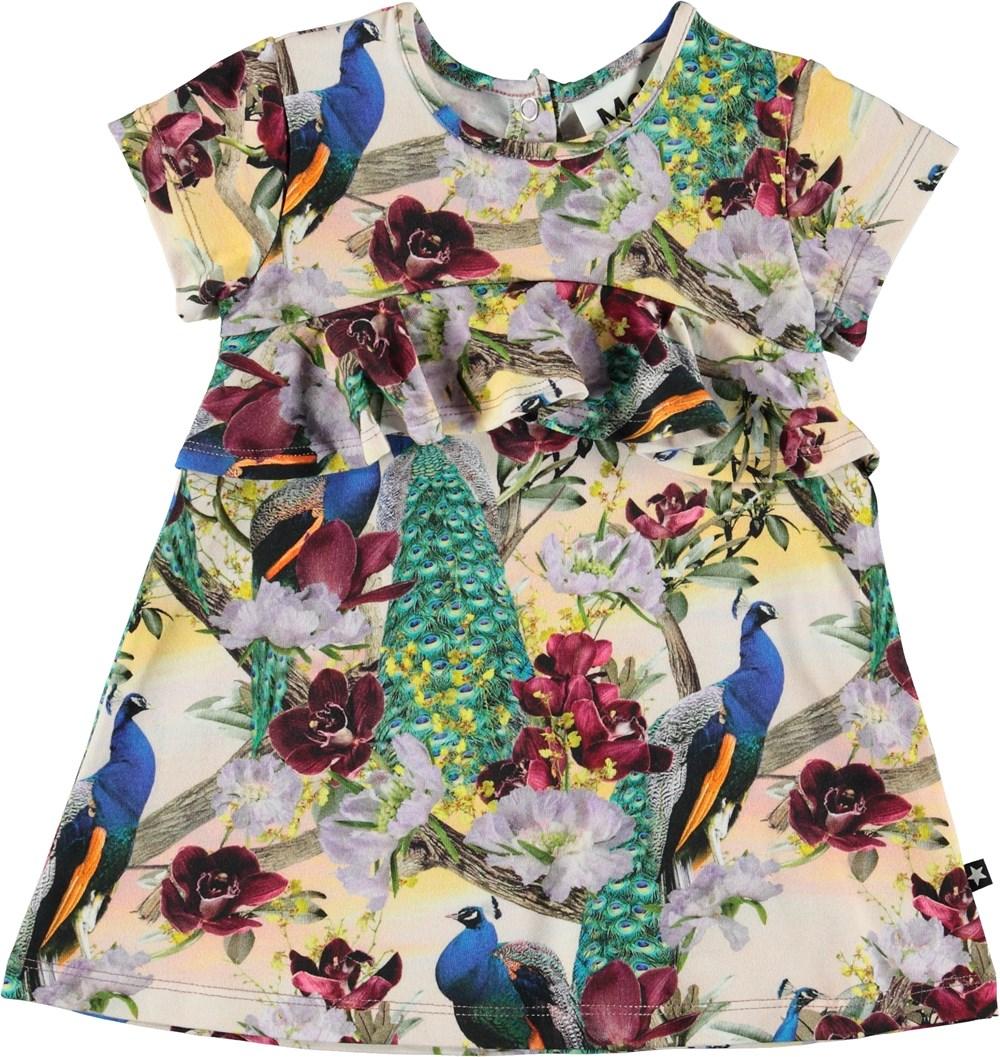 Cloud - Oriental Peacocks - Baby kjole med påfugle.