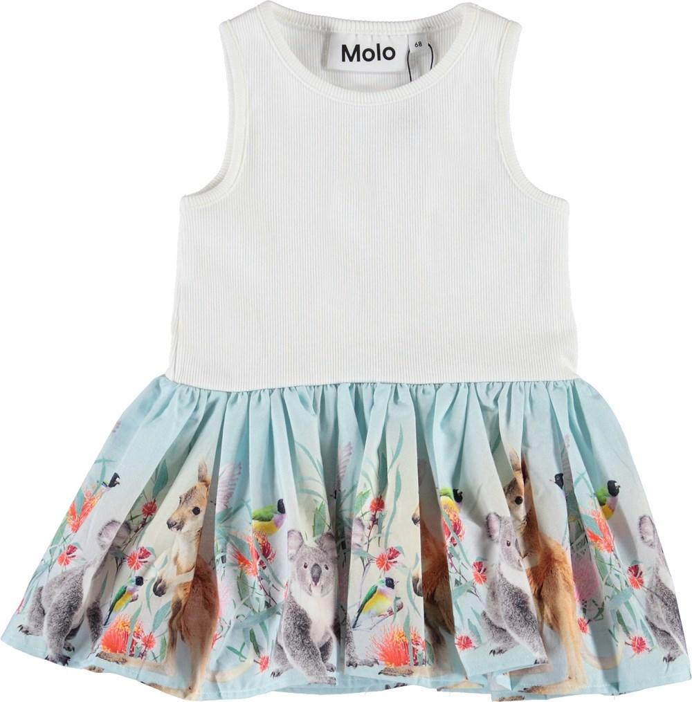 Cordelia - Little Friends - Baby kjole med kænguruer