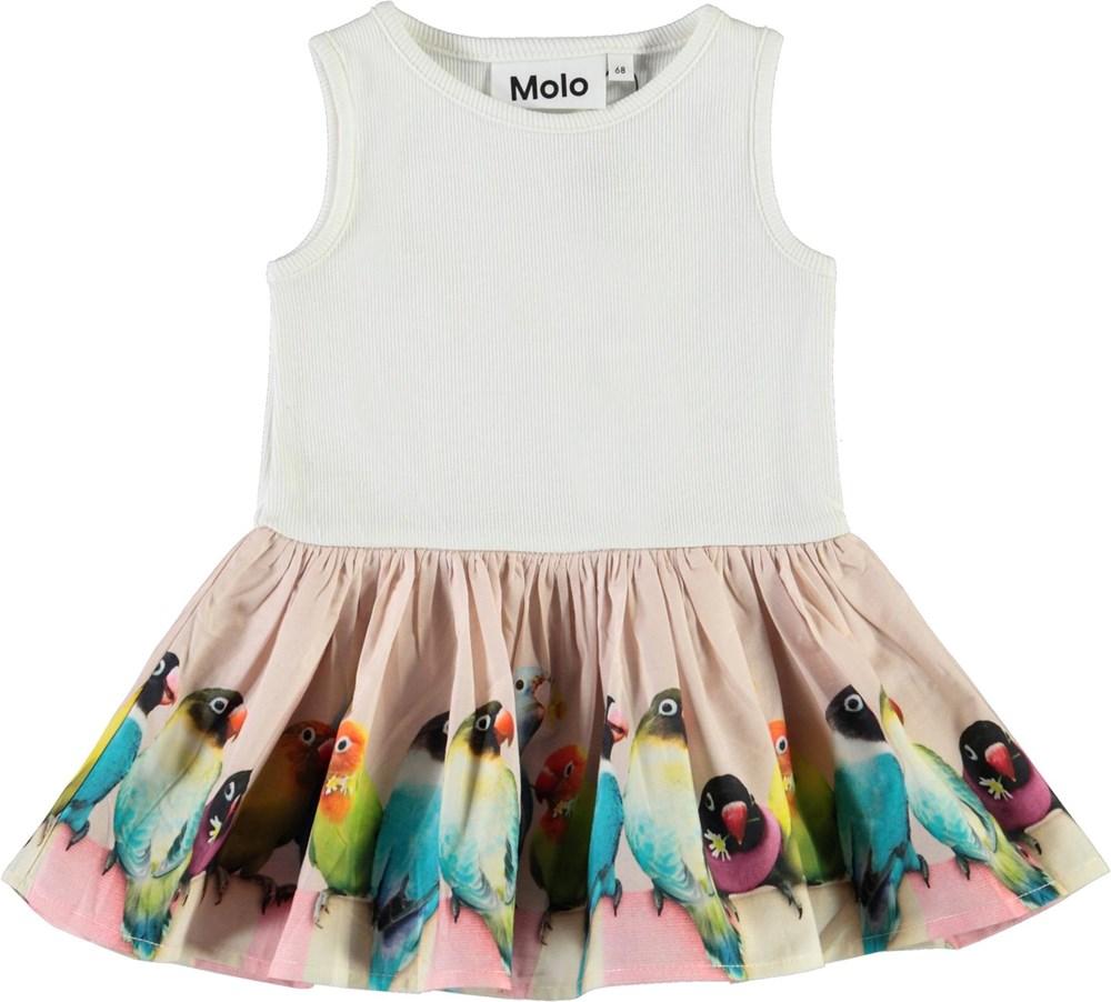 Cordelia - Mini Love Birds - Økologisk baby kjole med fugle