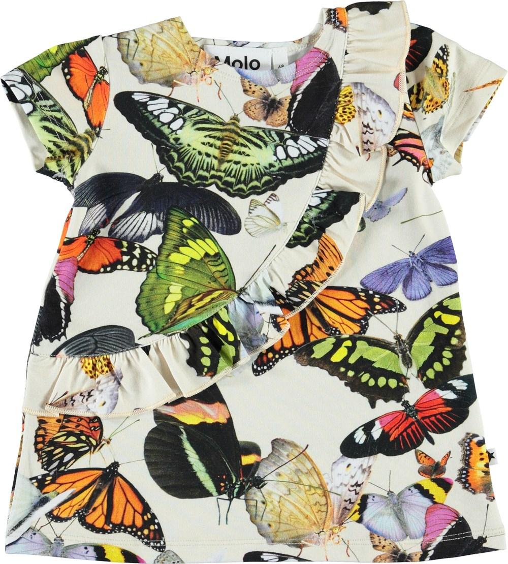 Cydney - Papillon - Økologisk baby kjole med sommerfugle