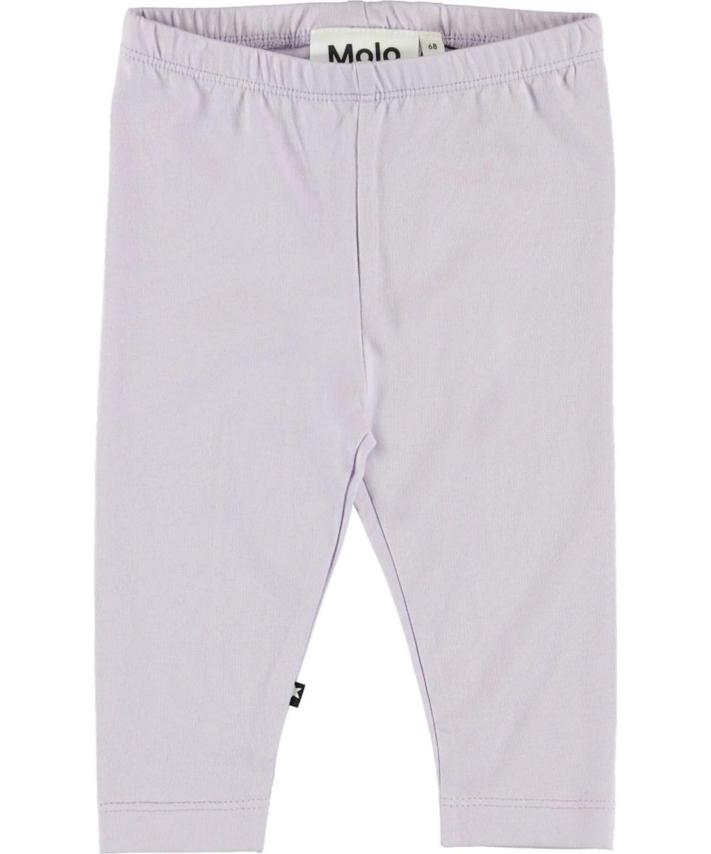 Nette Solid - Frozen Lilac - Lilla baby leggings.