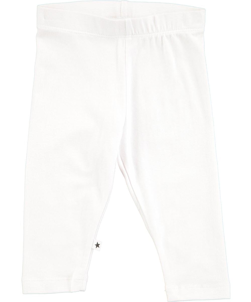 Nette solid - White - Hvide baby leggings