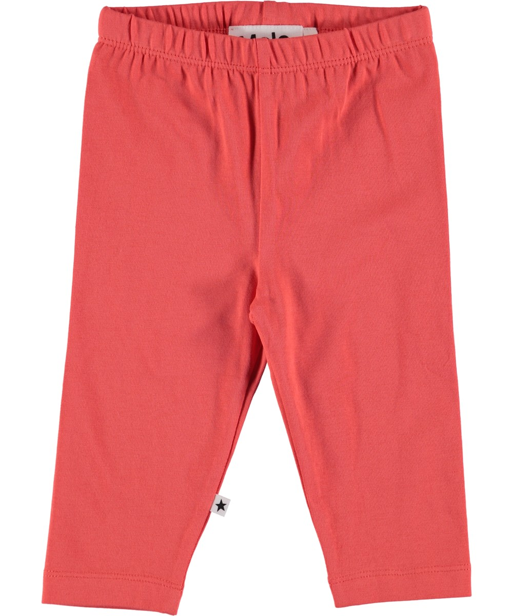 Nette Solid - Hot Coral - Baby Leggings