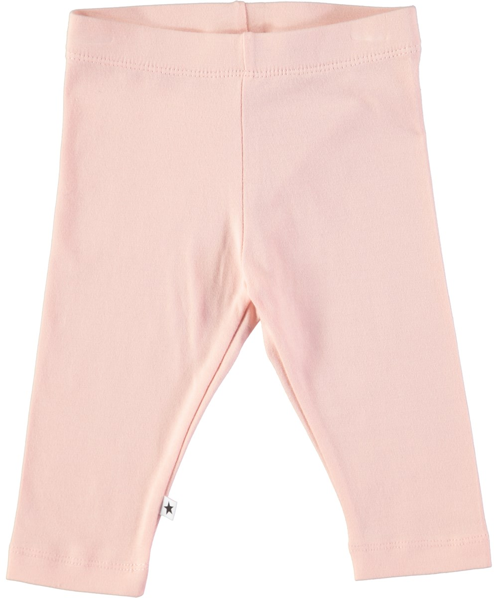 Nette solid - Dawn - Pudderfarvede baby leggings