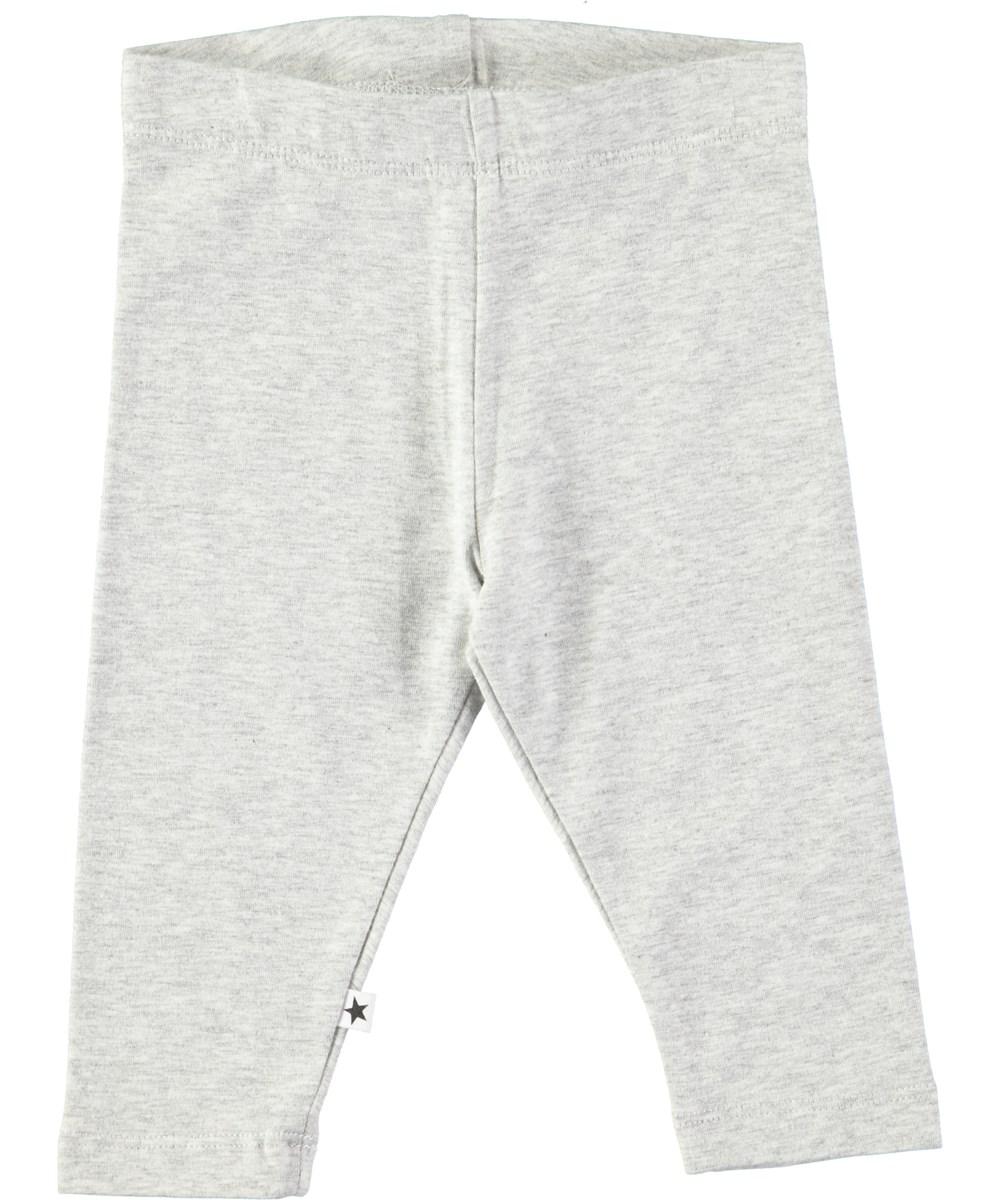 Nette solid - Light Grey Melange - Lysegrå baby leggings