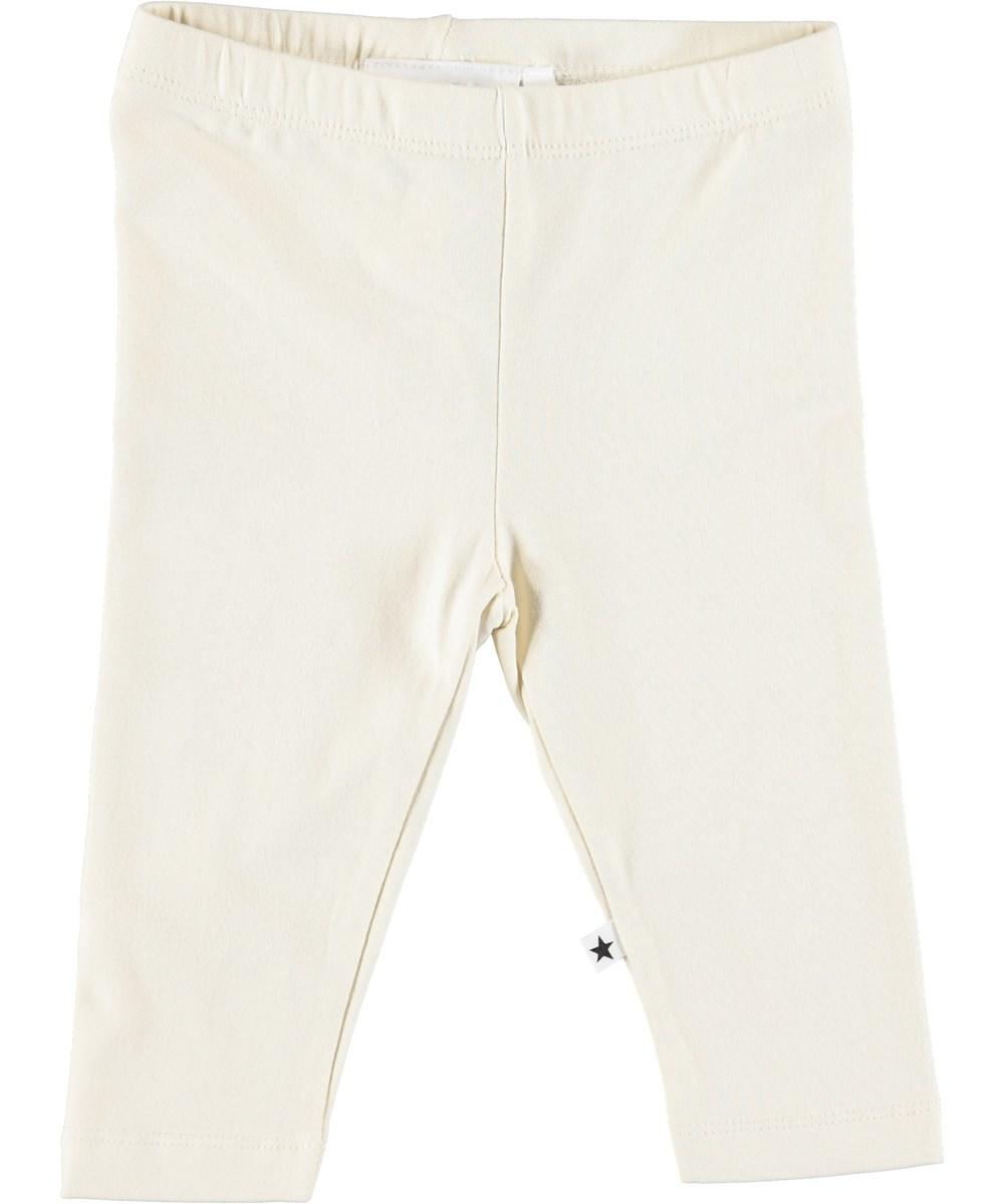 Nette solid - Pearled Ivory - Cremefarvede baby leggings