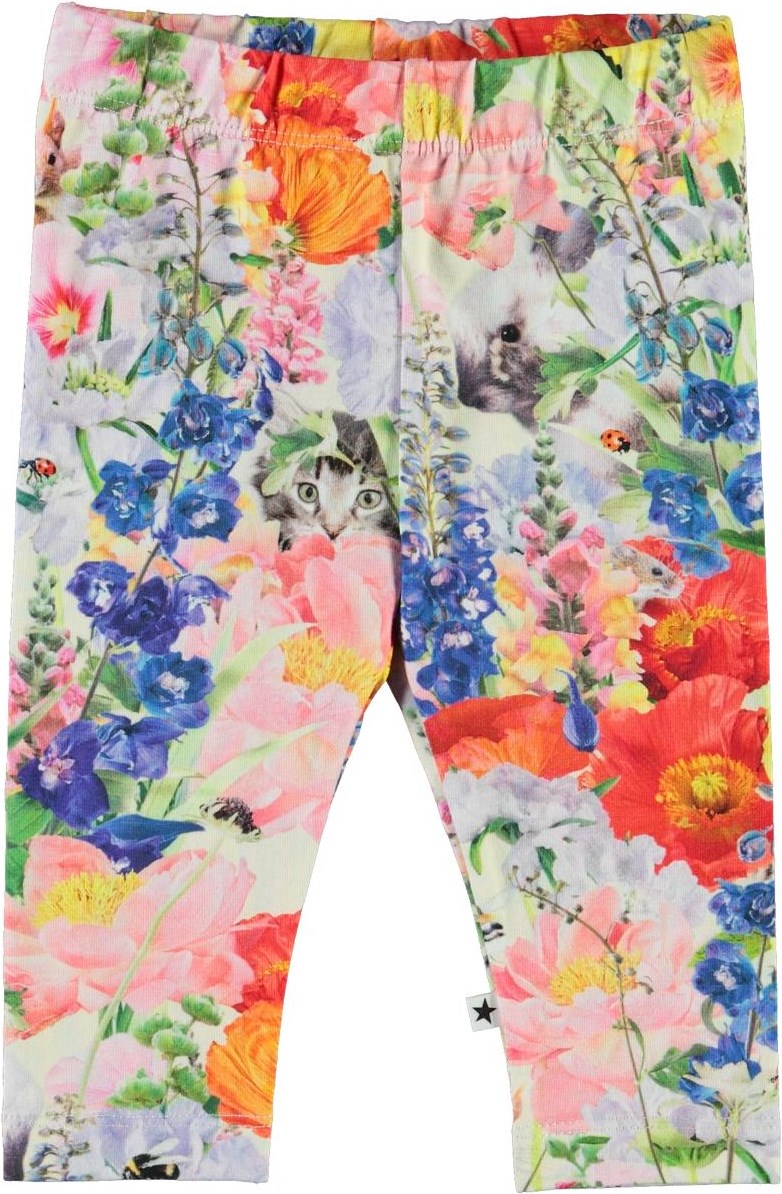 Stefanie - Hide And Seek - Økologiske baby leggings med blomster