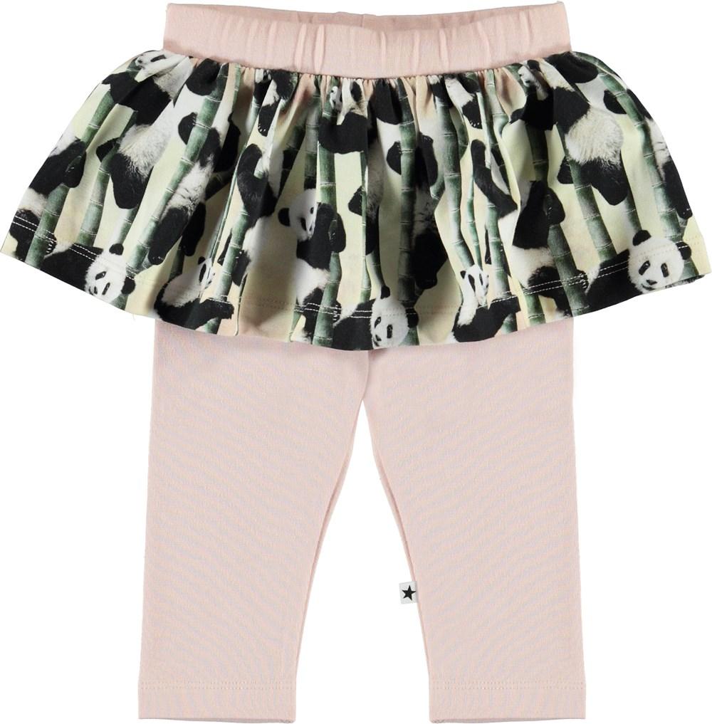 Susan - Yin Yang - Økologiske baby leggings med skørt