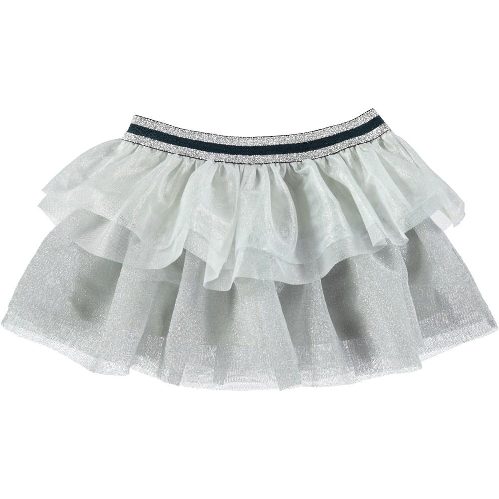 Bianca - Silver - Sølvfarvet baby tylskørt