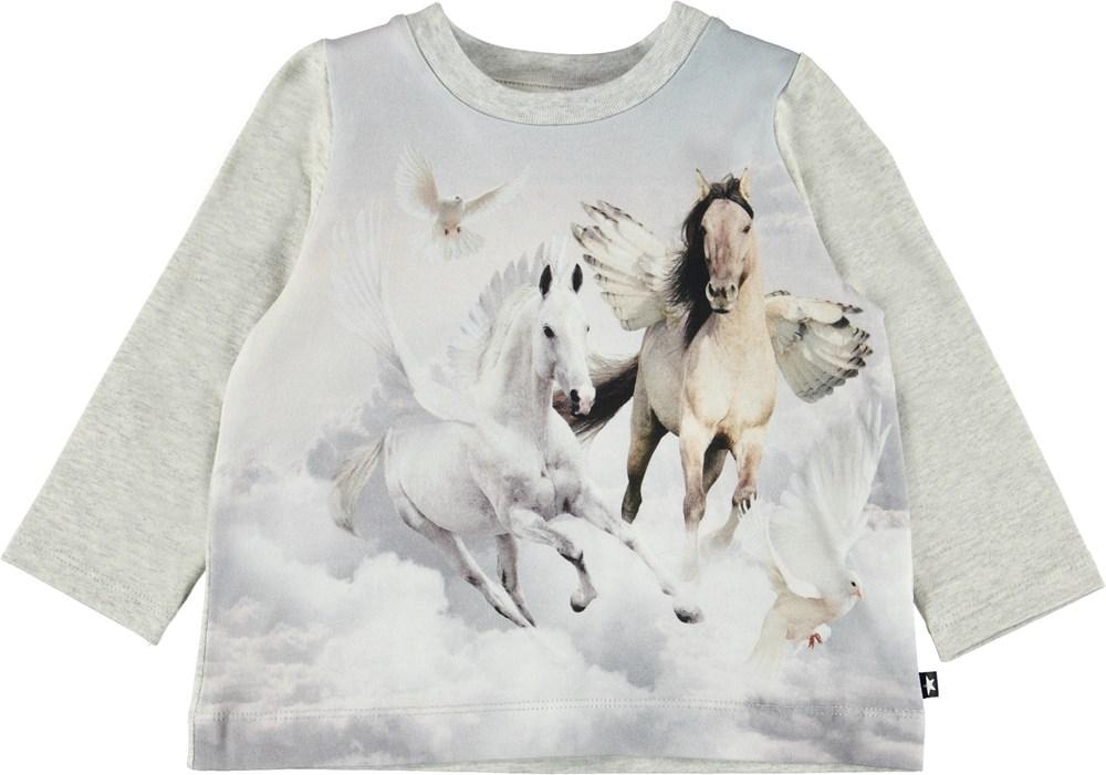 Ebby - Bewinged Baby - Baby bluse med hest med vinger.