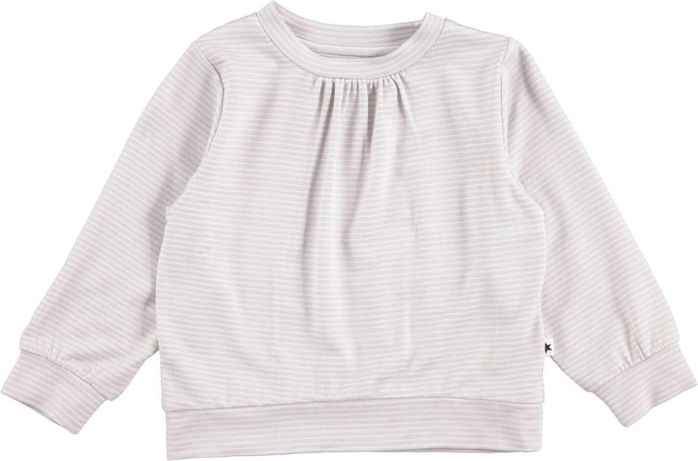 Effie - Pearled Blue - Langærmet, stribet baby t-shirt