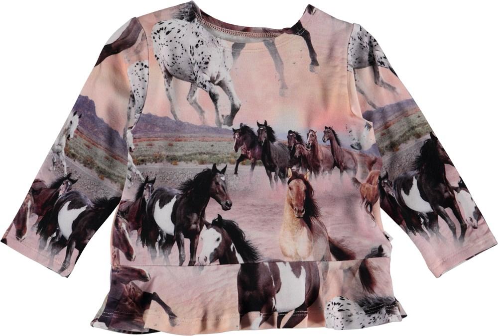 Elisabeth - Wild Horses - Baby Bluse