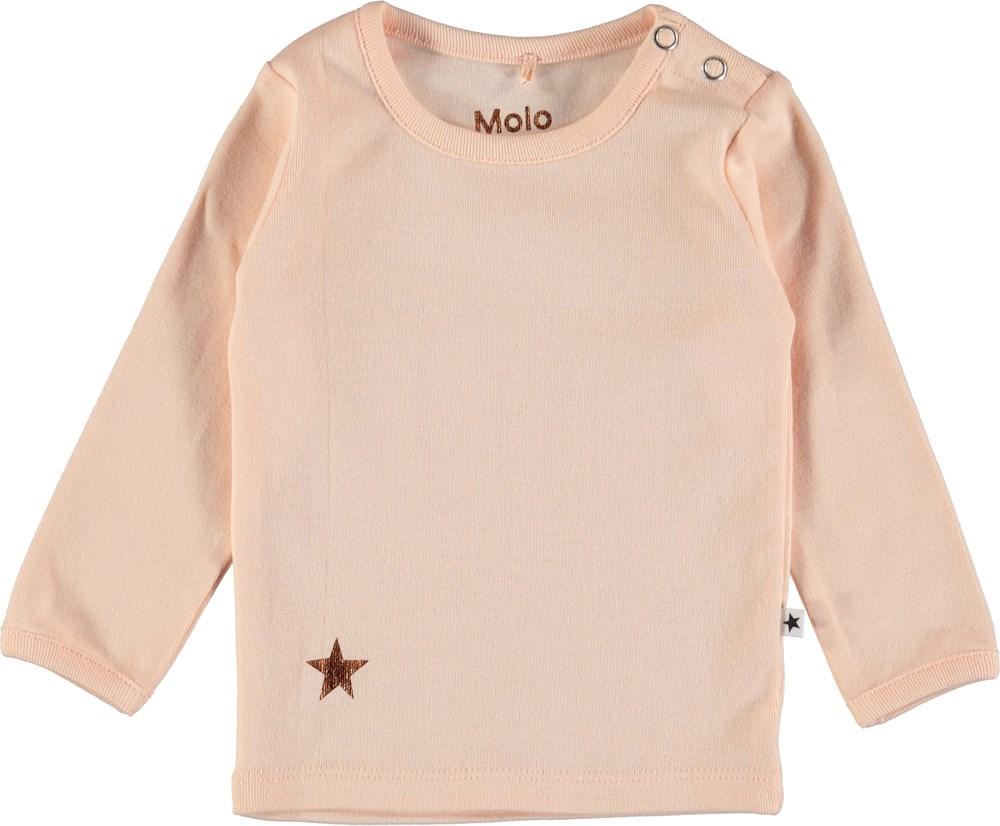 Elona - Dawn - Pudderfarvet basis bluse til baby