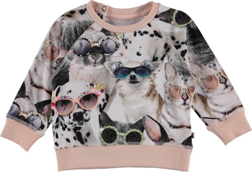 Elsa - Sunny Funny - Baby sweatshirt med print af dyr.