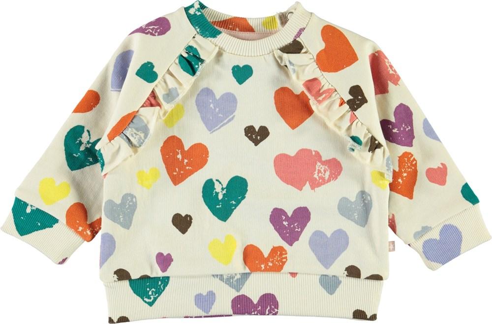 Dayna - Love Forever Isoli - Baby sweatshirt med hjerter