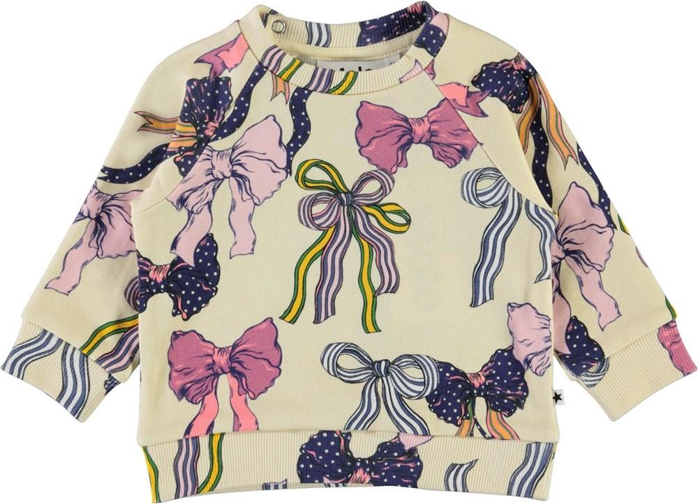 Dicte - Bowtastic - Baby sweatshirt med sløjfe print