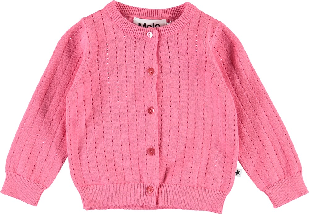 Ginny - Pink Lemonade - Pink baby cardigan