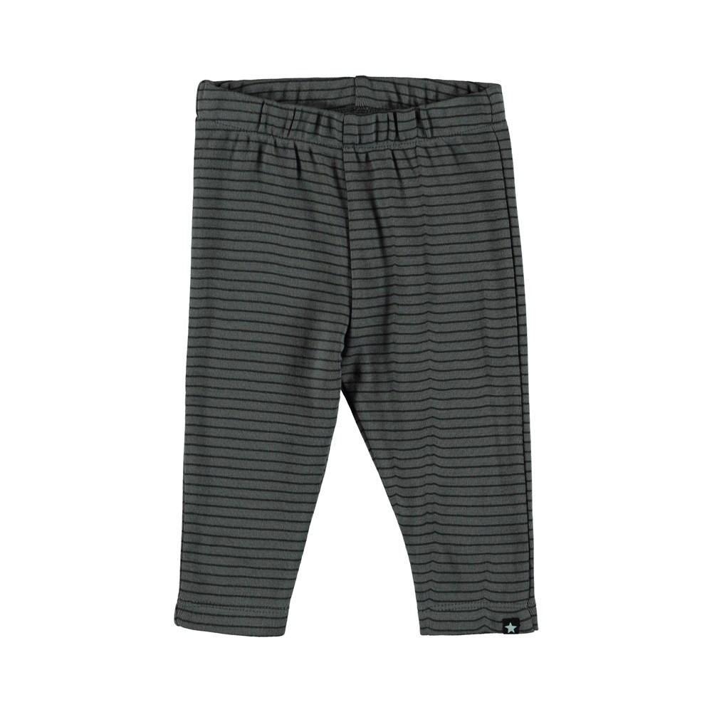 Sej - Pewter Stripe - Randiga baby leggings