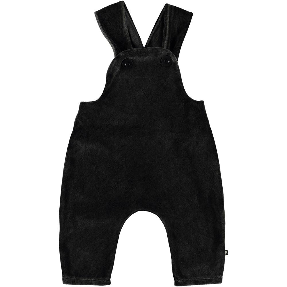 Snurre - Pirate Black - Baby hängselbyxor med kanin motiv.