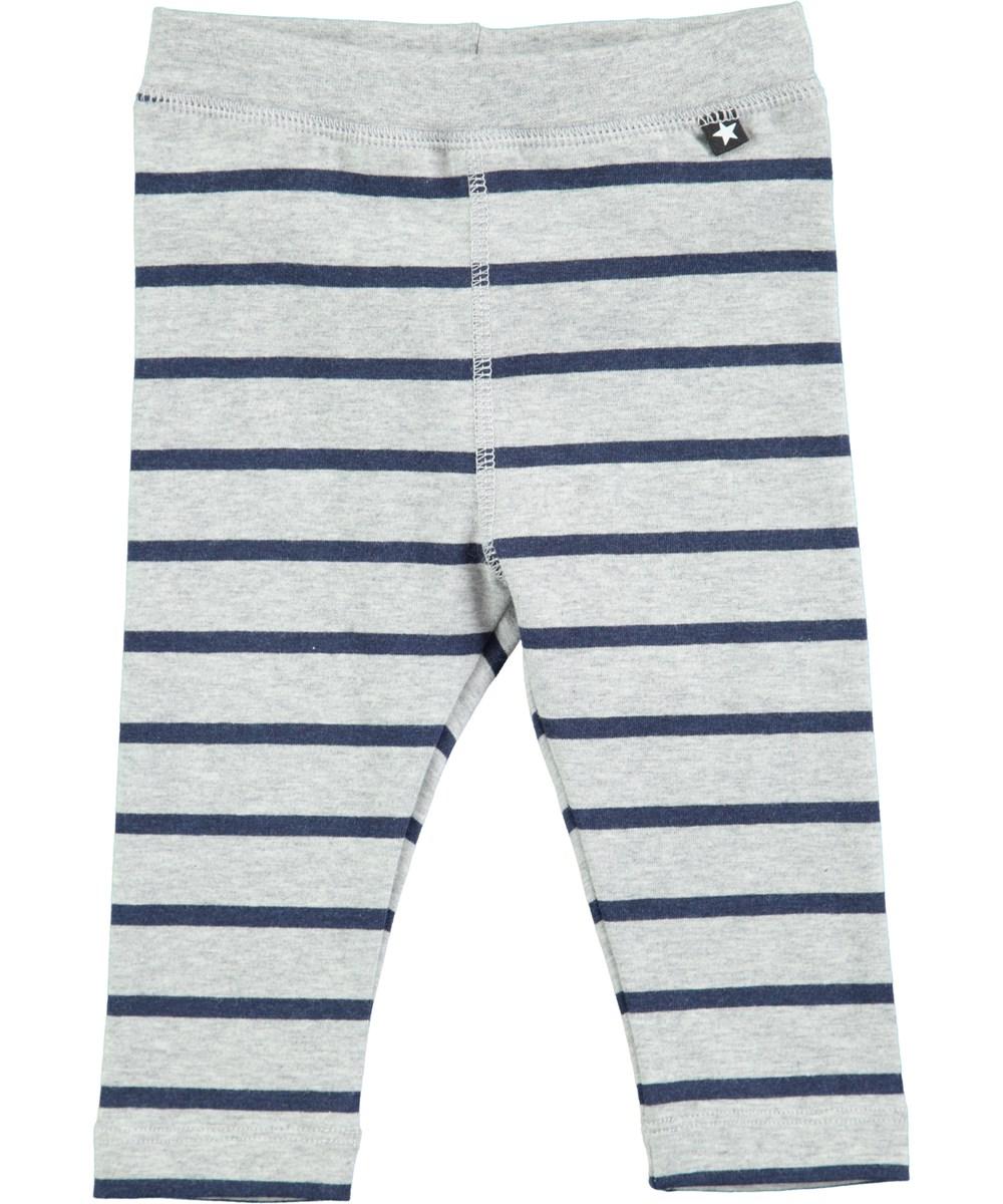 Soul - Infinity Stripe - Grå baby byxor med blå ränder