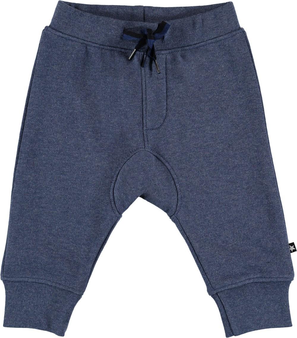 Stan - Infinity Melange - Blå baby sweatpants.