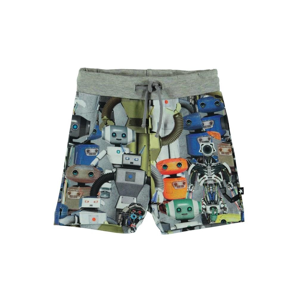 Simroy - Robots - Baby shorts med robot tryck.