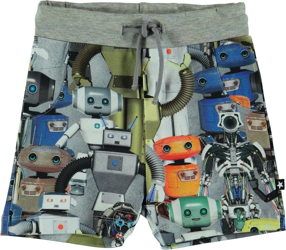 Simroy - Robots - Baby shorts med robot tryck.