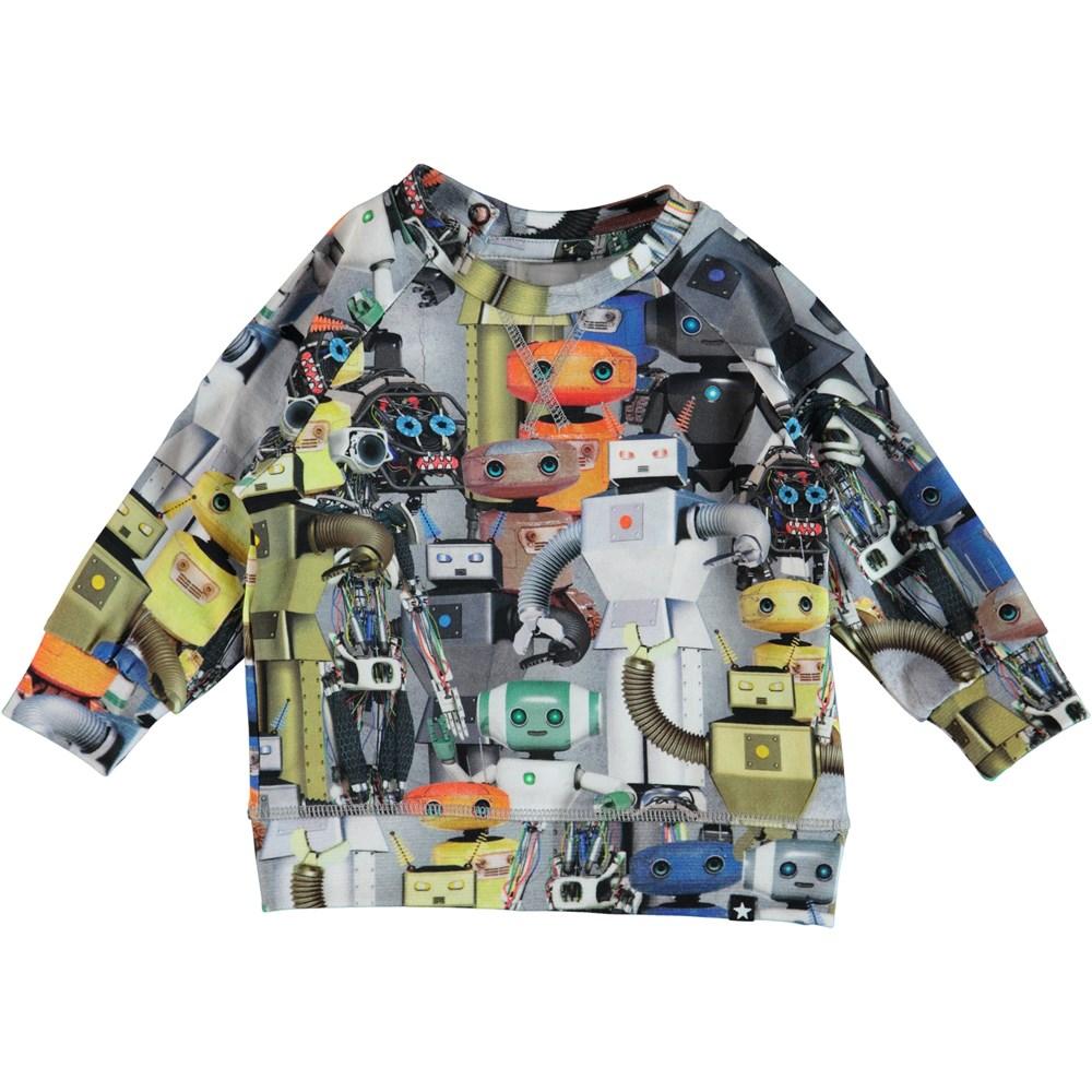 Elmo - Robots - Långärmad baby t-shirt med robotar.