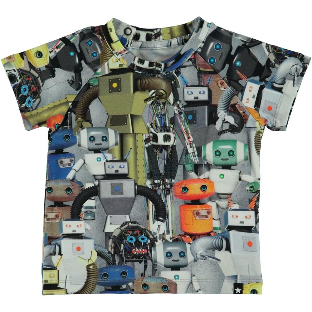 Emmett - Robots - Baby t-shirt med robotar.