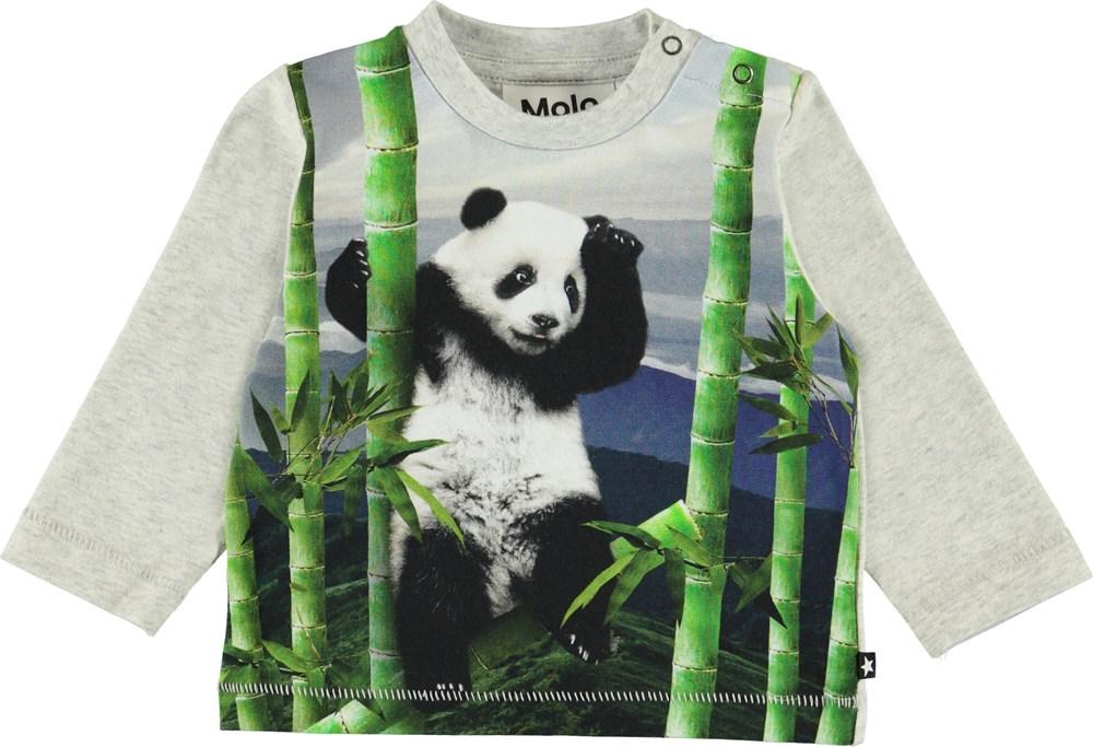 Enovan - Climbing Panda - Ekologisk baby blus med panda