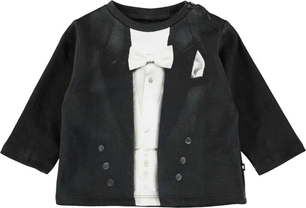 Dandy - Smoking - Söt baby blus med smoking tryck