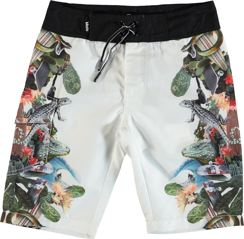 Nalvaro - Tropical Fever - Boardies med tropisk print