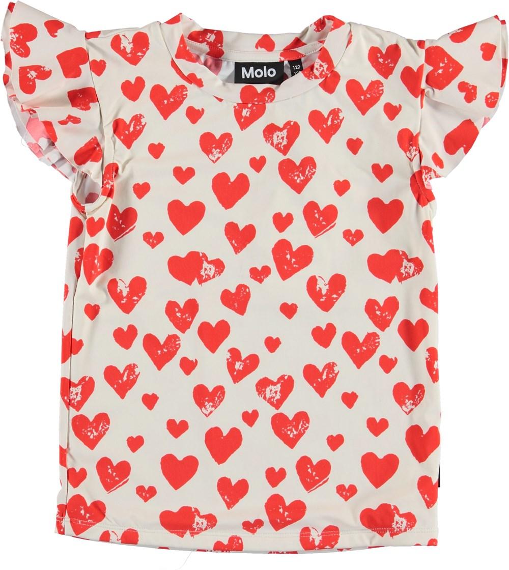 Neona - All Is Love - UV svømme t-shirt med hjerte print