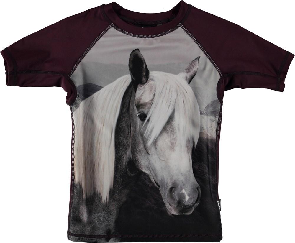 Neptune - Beauty - Svømme t-shirt i med hest