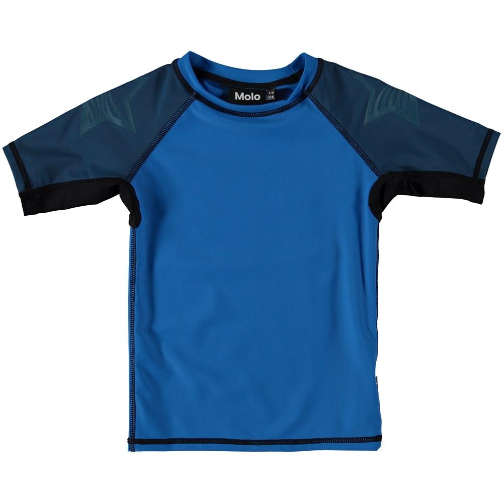 Neptune Block - Indigo Blue - Svømme t-shirt i blokfarver