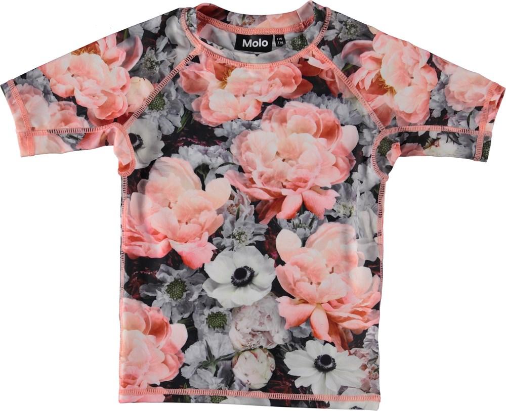 Neptune - Blossom - Svømme t-shirt med blomster