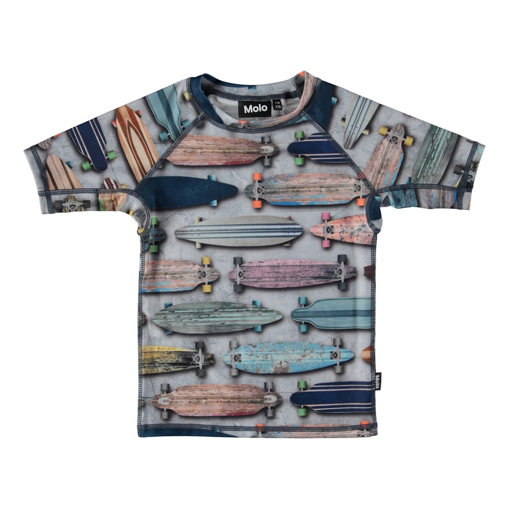 Neptune - Board Stripe - Svømme t-shirt med skateboards