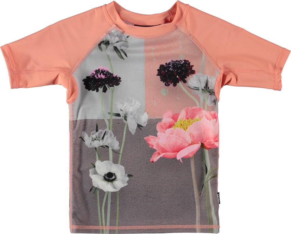 Neptune - Flower Wall - Svømme t-shirt med blomster